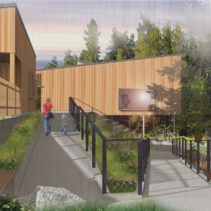 Kanaka Creek Watershed Stewardship Centre - east view from ramp