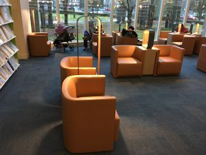 Photo of updated Reading Lounge at Bob Prittie Metrotown library