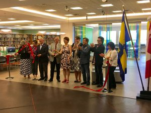 Photo - Ratio-designed Brighouse Library Launchpad ribbon cutting