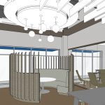 RATIO rendering for Aldergrove Credit Union Mission branch design _ meeting pod