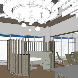 RATIO rendering for Aldergrove Credit Union Mission branch design _ meeting pod